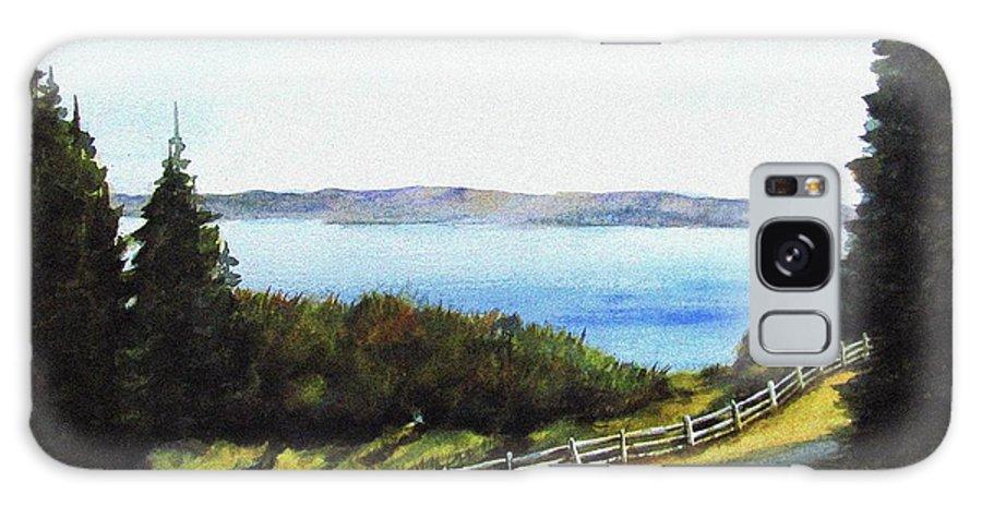 Vashon Galaxy S8 Case featuring the painting Vashon Island by Marti Green