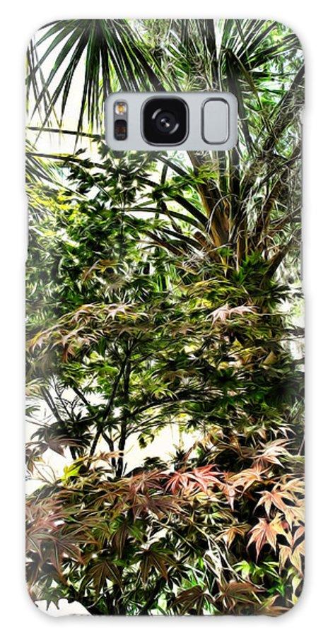 Charleston Galaxy S8 Case featuring the digital art Vegetation Takeover by Joan Minchak
