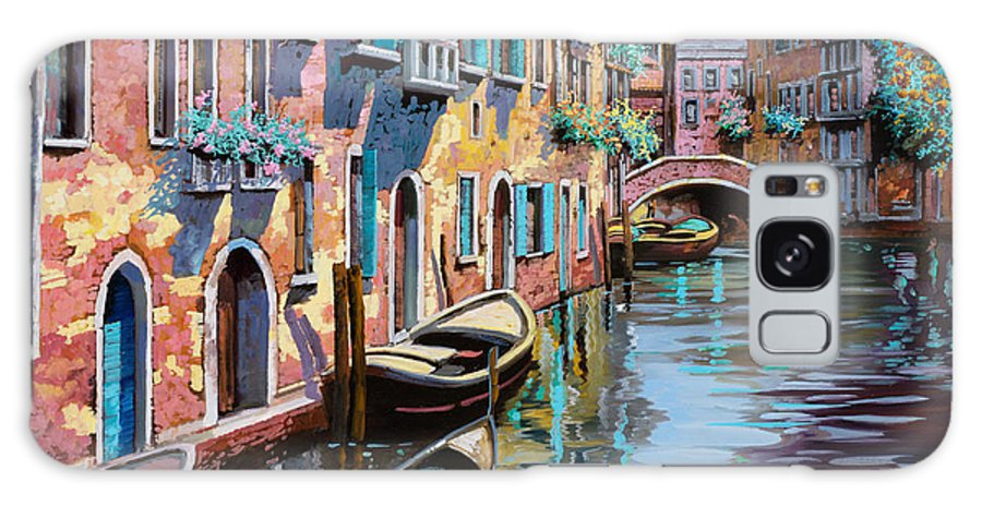 Venice Galaxy S8 Case featuring the painting Venezia In Rosa by Guido Borelli