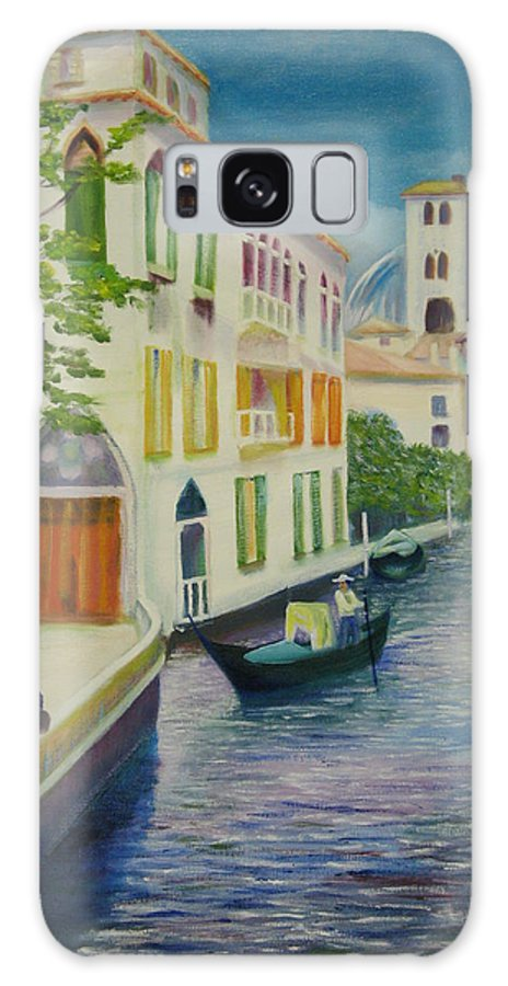 Water Galaxy S8 Case featuring the painting Venezia by Lara Leitch
