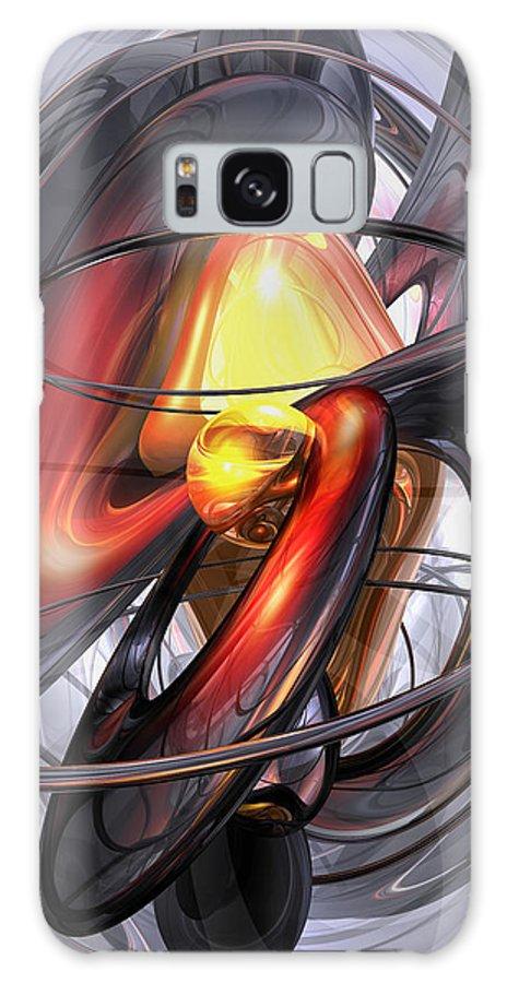 3d Galaxy S8 Case featuring the digital art Vengeance Abstract by Alexander Butler