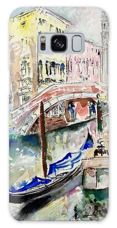 Venice Galaxy S8 Case featuring the painting Venice-7-15 by Vladimir Kezerashvili