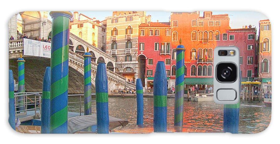 Venice Galaxy S8 Case featuring the photograph Venice Rialto Bridge by Heiko Koehrer-Wagner