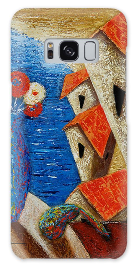 Landscape Galaxy S8 Case featuring the painting Ventana Al Mar by Oscar Ortiz