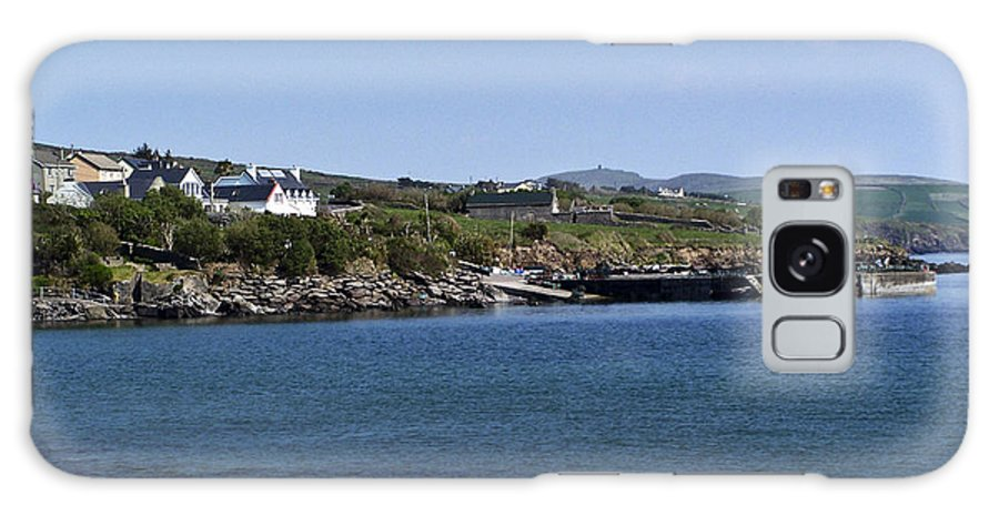 Irish Galaxy Case featuring the photograph Ventry Beach And Harbor Ireland by Teresa Mucha