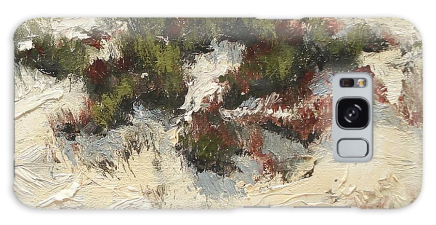 Water Galaxy Case featuring the painting Ventura Dunes I by Barbara Andolsek