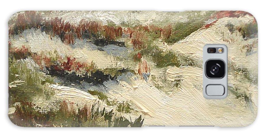 Water Galaxy Case featuring the painting Ventura Dunes II by Barbara Andolsek