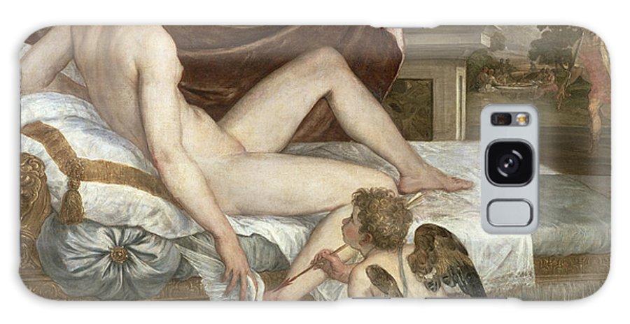 Venus Galaxy S8 Case featuring the painting Venus And Cupid by Lambert Sustris