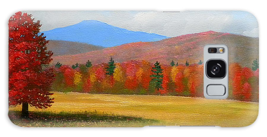 Autumn Galaxy S8 Case featuring the painting Vermont Haven by Frank Wilson