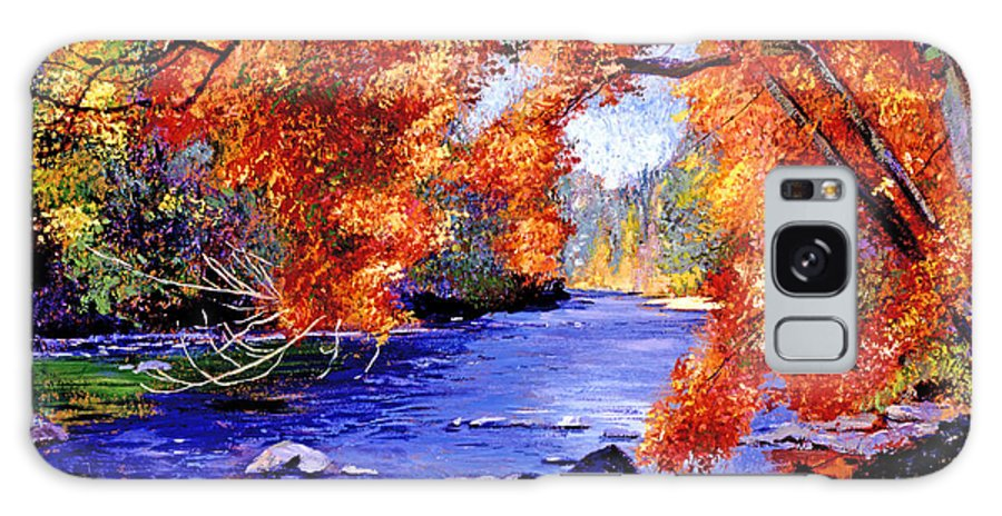 Autumn Galaxy S8 Case featuring the painting Vermont River by David Lloyd Glover