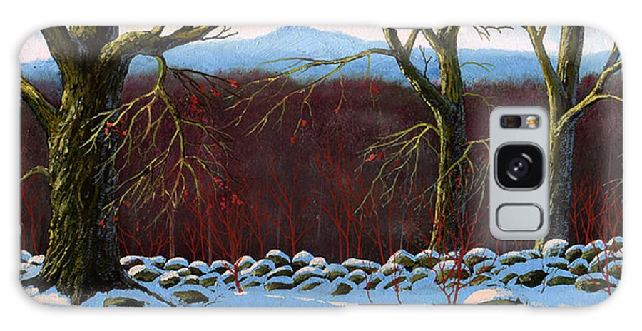 Landscape Galaxy Case featuring the painting Vermont Stone Wall by Frank Wilson