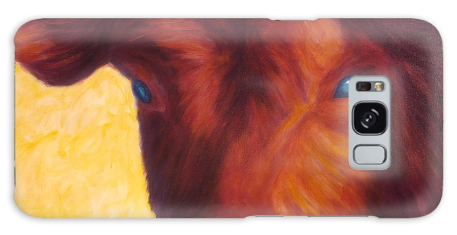 Bull Galaxy S8 Case featuring the painting Vern by Shannon Grissom
