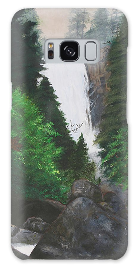 Landscape Galaxy S8 Case featuring the painting Vernal Falls by Travis Day