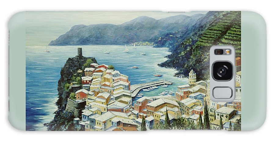 Vernazza Galaxy S8 Case featuring the painting Vernazza Cinque Terre Italy by Marilyn Dunlap