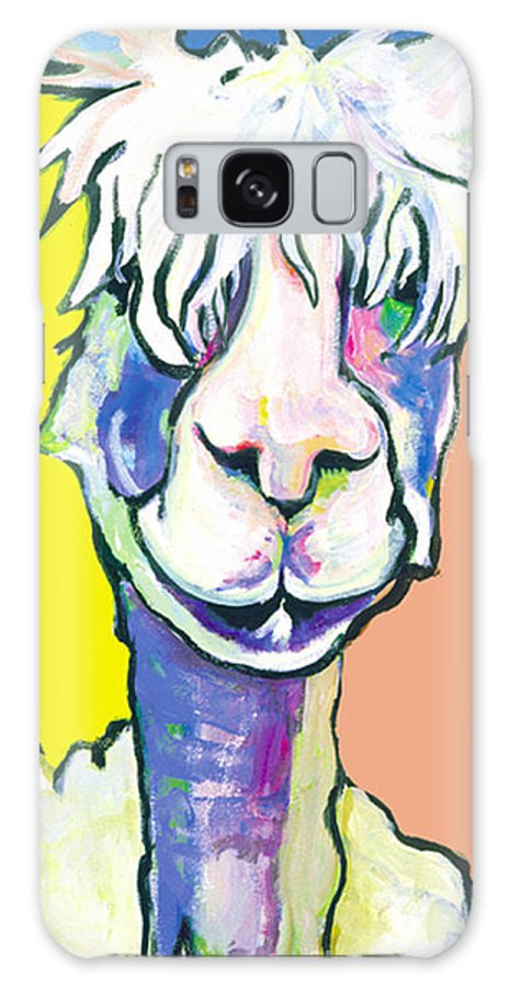 Mountain Animal Galaxy S8 Case featuring the painting Veronica by Pat Saunders-White