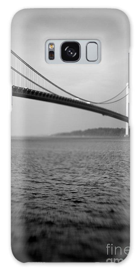 Black & White Galaxy Case featuring the photograph Verrazano Bridge 1 by Tony Cordoza