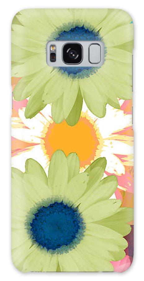 ruth Palmer Art Galaxy S8 Case featuring the digital art Vertical Daisy Collage II by Ruth Palmer
