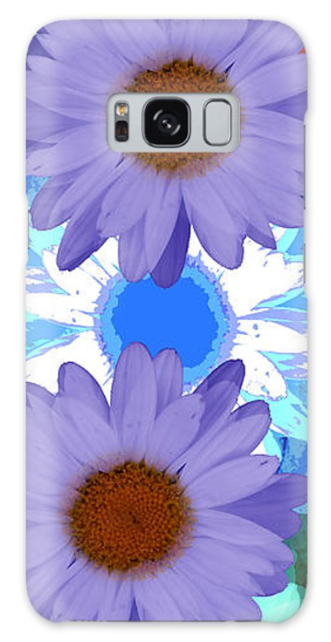 ruth Palmer Art Galaxy S8 Case featuring the digital art Vertical Daisy Collage by Ruth Palmer
