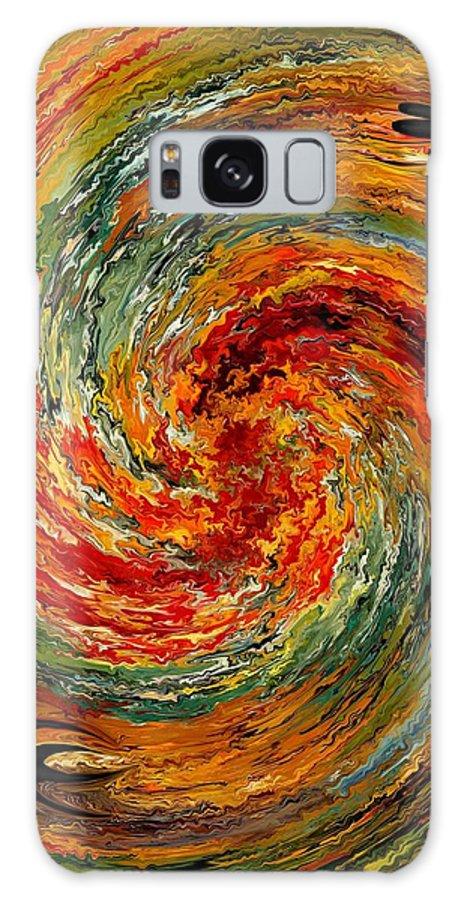 Contemporary Galaxy S8 Case featuring the painting Vertigo by Rafi Talby
