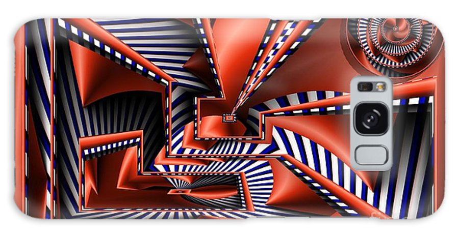 Abstract Galaxy S8 Case featuring the digital art Vertigo by Ron Bissett