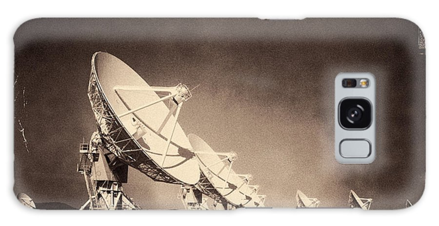 Iphoneography Galaxy S8 Case featuring the photograph Very Large Array Sepia by Matt Suess