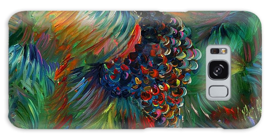 Grapes Galaxy S8 Case featuring the painting Vibrant Grapes by Nadine Rippelmeyer