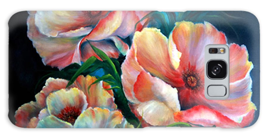 Poppies Galaxy S8 Case featuring the painting Vibrant Poppies by Meg Keeling