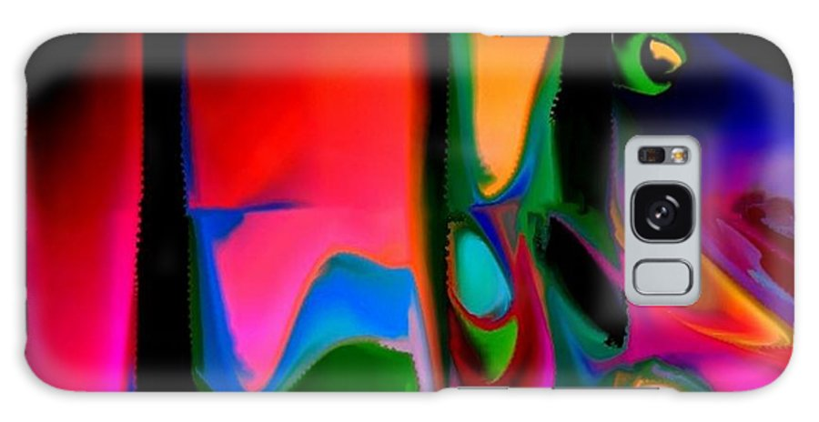 Abstract Galaxy S8 Case featuring the digital art Vibrant by Robert Burns