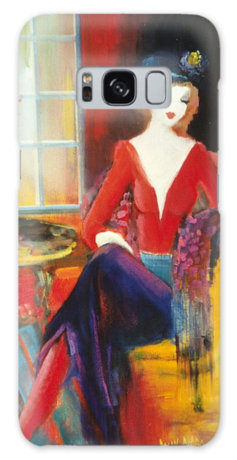 Cafe Galaxy S8 Case featuring the painting Victoria Marie by Sally Seago
