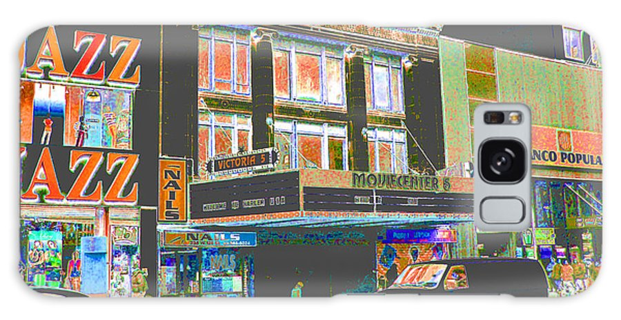 Harlem Galaxy Case featuring the photograph Victoria Theater 125th St Nyc by Steven Huszar