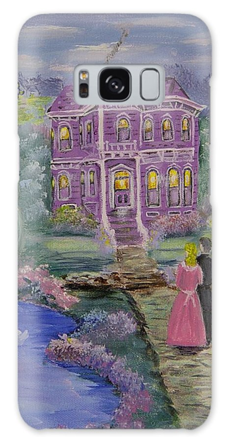 Victorian Galaxy Case featuring the painting Victorian Romance 1 by Quwatha Valentine