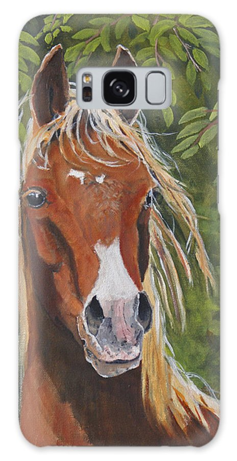 Horse Galaxy Case featuring the painting Victory by Heather Coen