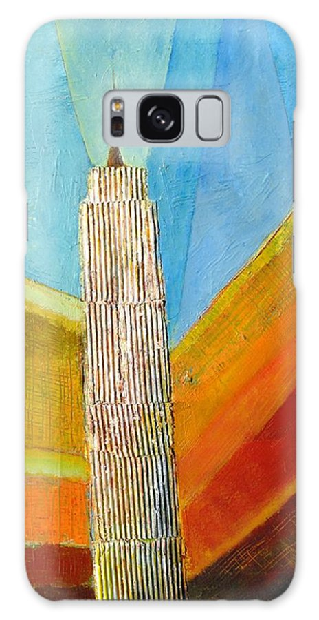 Abstract Cityscape Galaxy S8 Case featuring the painting View From 34th St by Habib Ayat