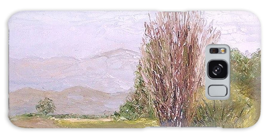 Landscape Galaxy Case featuring the painting View From Casa Galleria by Jeanie Watson