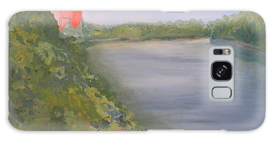 Landscape River Water Nature Galaxy Case featuring the painting View From Edmund Pettus Bridge by Patricia Caldwell