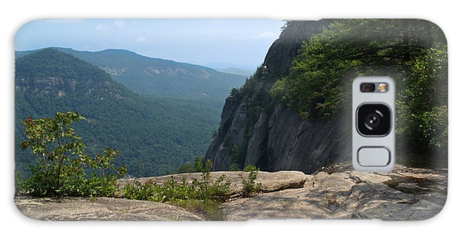 Chimney Rock Galaxy Case featuring the photograph View From Hickory Nut Gorge Nc by Anna Lisa Yoder