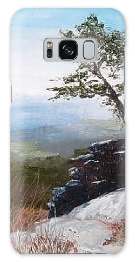 Landscape / Nature / Blue Ridge Mountains Galaxy S8 Case featuring the painting View From Pilot Mountain by Tami Booher