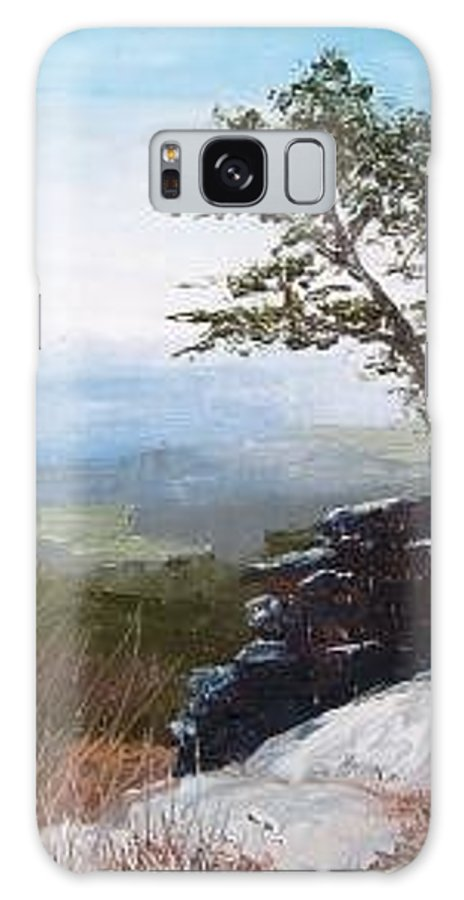 Landscape / Nature / Blue Ridge Mountains Galaxy Case featuring the painting View From Pilot Mountain by Tami Booher