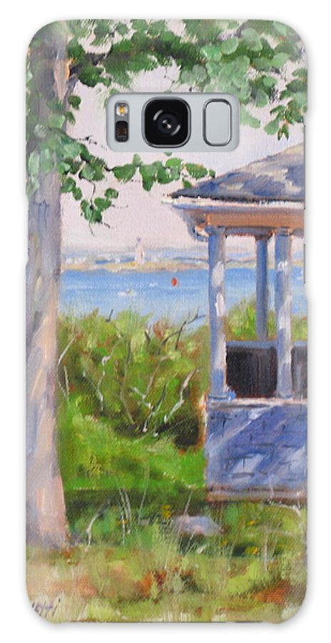 Oil Painting Galaxy S8 Case featuring the painting View From Pointe Allerton by Laura Lee Zanghetti