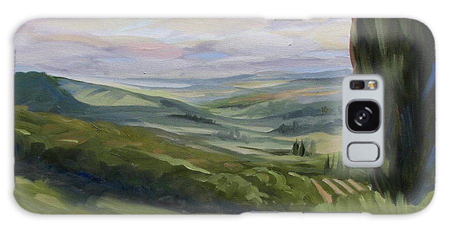 Landscape Galaxy S8 Case featuring the painting View From Sienna by Jay Johnson