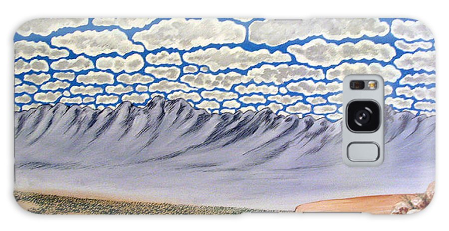 Desertscape Galaxy Case featuring the painting View From The Mesa by Marco Morales