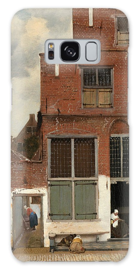 Jan Vermeer Galaxy S8 Case featuring the painting View Of Houses In Delft by Jan Vermeer