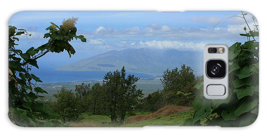 Keokea Galaxy S8 Case featuring the photograph View Of Mauna Kahalewai West Maui From Keokea On The Western Slopes Of Haleakala Maui Hawaii by Sharon Mau