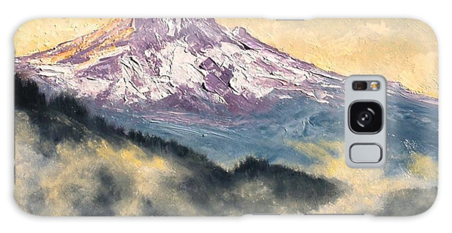 Lanscape Galaxy S8 Case featuring the painting View Of Mt Hood by Jim Gola