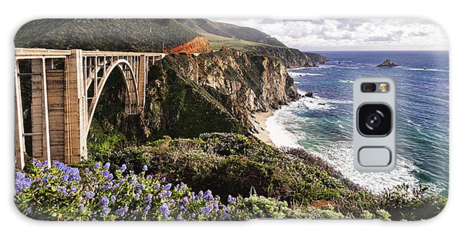 Arch Bridge Galaxy Case featuring the photograph View Of The Bixby Creek Bridge Big Sur California by George Oze
