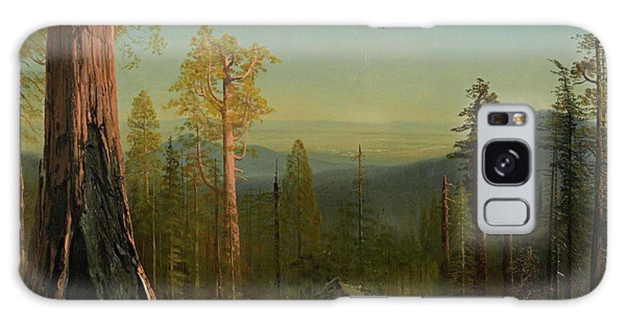 Albert Bierstadt Galaxy S8 Case featuring the painting View Through The Trees by Albert Bierstadt
