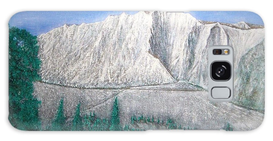 Snow Galaxy Case featuring the painting Viewfrom Spruces by Michael Cuozzo