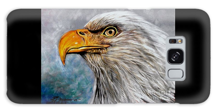 Eagle Galaxy S8 Case featuring the painting Vigilant Eagle by Patricia L Davidson