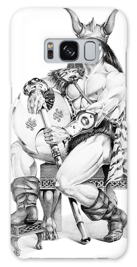Viking Galaxy Case featuring the painting Viking Warrior by Melissa A Benson