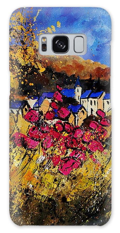 Flowers Galaxy Case featuring the painting Village 450808 by Pol Ledent